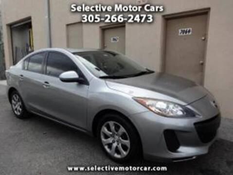 2012 Mazda MAZDA3 for sale at Selective Motor Cars in Miami FL