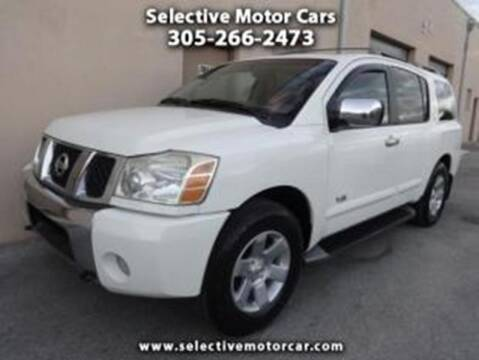 2005 Nissan Armada for sale at Selective Motor Cars in Miami FL