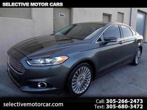 2015 Ford Fusion for sale in Miami, FL