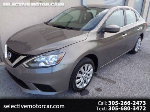 2016 Nissan Sentra for sale at Selective Motor Cars in Miami FL
