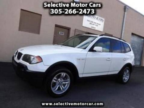 2005 BMW X3 for sale at Selective Motor Cars in Miami FL
