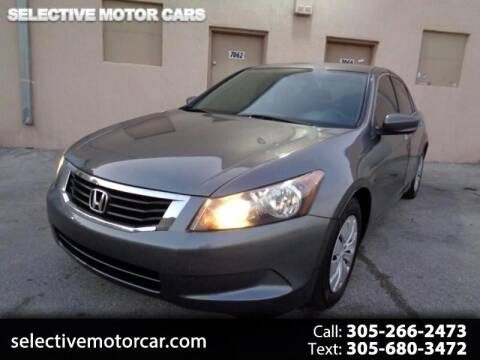 2008 Honda Accord for sale at Selective Motor Cars in Miami FL