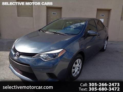 2016 Toyota Corolla for sale at Selective Motor Cars in Miami FL