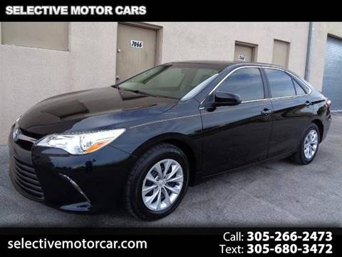 2015 Toyota Camry for sale at Selective Motor Cars in Miami FL