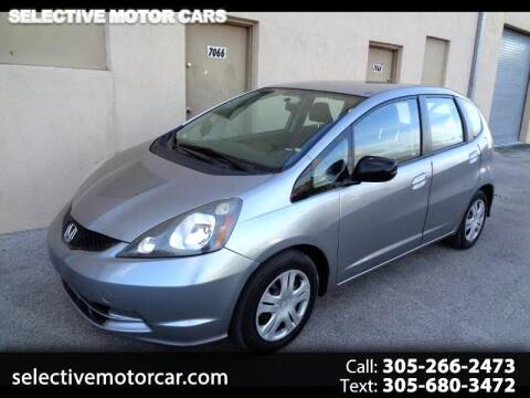 2009 Honda Fit for sale at Selective Motor Cars in Miami FL