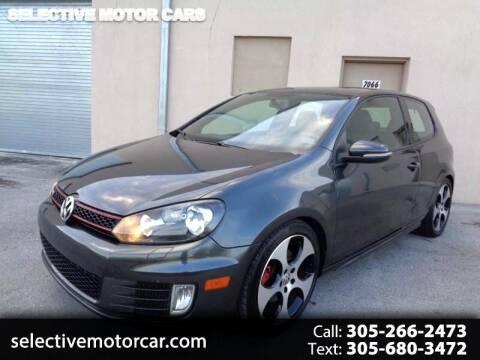 2011 Volkswagen GTI for sale at Selective Motor Cars in Miami FL