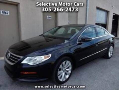 2012 Volkswagen CC for sale at Selective Motor Cars in Miami FL