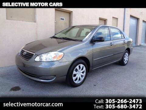 2006 Toyota Corolla for sale at Selective Motor Cars in Miami FL