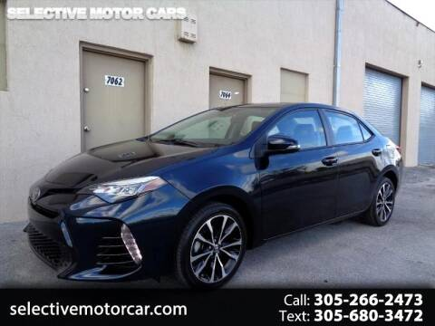 2017 Toyota Corolla for sale at Selective Motor Cars in Miami FL