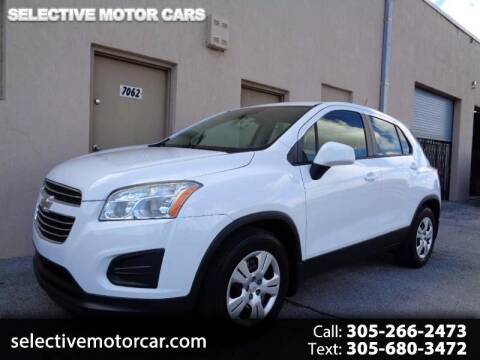 2015 Chevrolet Trax for sale at Selective Motor Cars in Miami FL