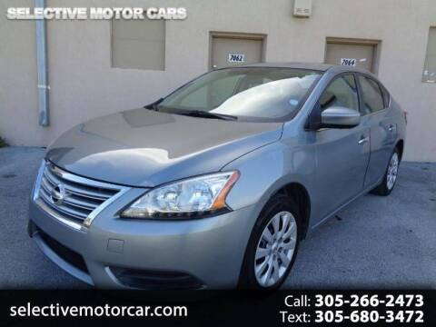 2013 Nissan Sentra for sale at Selective Motor Cars in Miami FL