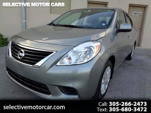 2013 Nissan Versa for sale at Selective Motor Cars in Miami FL