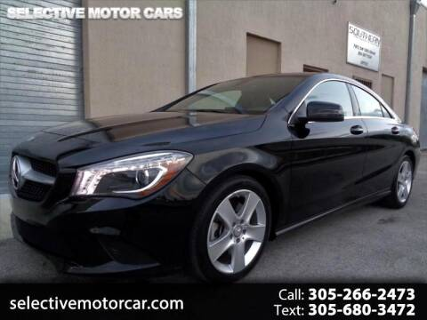 2016 Mercedes-Benz CLA CLA 250 for sale at Selective Motor Cars in Miami FL