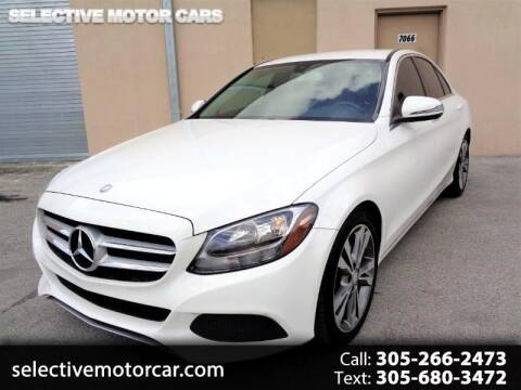 2016 Mercedes-Benz C-Class C 300 for sale at Selective Motor Cars in Miami FL