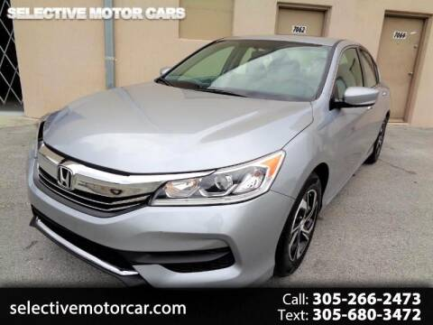 2017 Honda Accord for sale at Selective Motor Cars in Miami FL