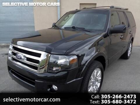 2012 Ford Expedition Limited for sale at Selective Motor Cars in Miami FL
