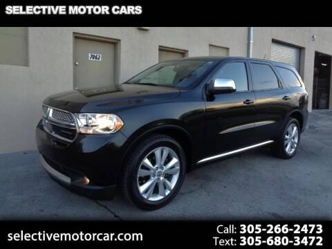 2013 Dodge Durango for sale at Selective Motor Cars in Miami FL