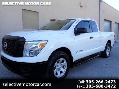 2018 Nissan Titan for sale at Selective Motor Cars in Miami FL