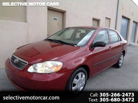 2007 Toyota Corolla for sale at Selective Motor Cars in Miami FL