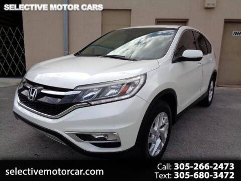 2015 Honda CR-V for sale at Selective Motor Cars in Miami FL