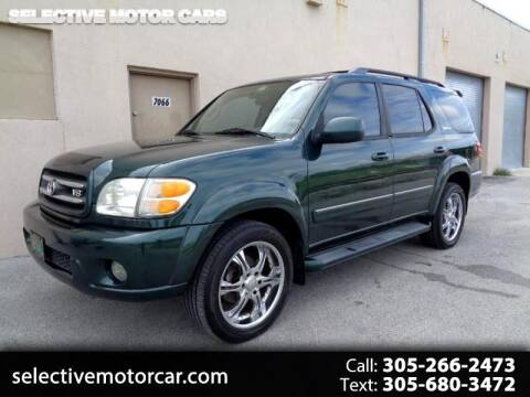 2001 Toyota Sequoia for sale at Selective Motor Cars in Miami FL