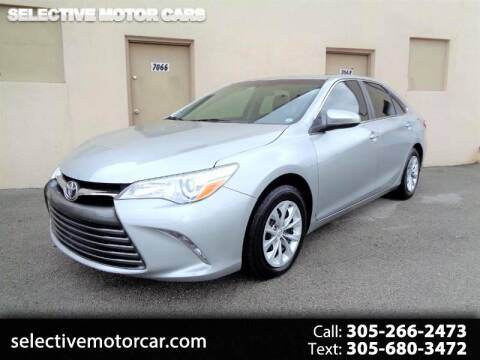 2016 Toyota Camry for sale at Selective Motor Cars in Miami FL