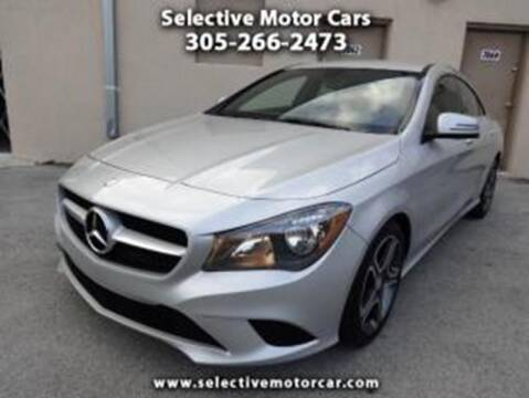 2014 Mercedes-Benz CLA for sale at Selective Motor Cars in Miami FL