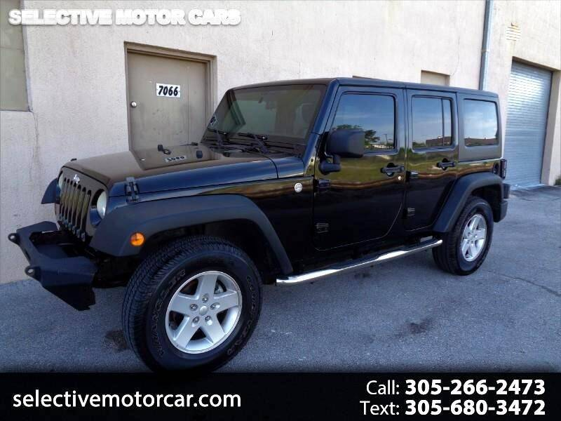 2011 Jeep Wrangler Unlimited for sale at Selective Motor Cars in Miami FL