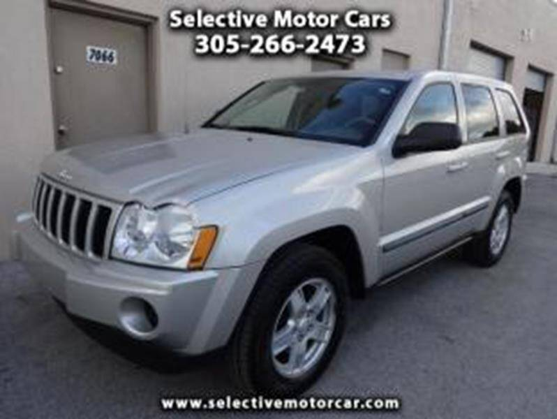 2007 Jeep Grand Cherokee for sale at Selective Motor Cars in Miami FL