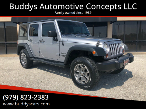 2013 Jeep Wrangler Unlimited for sale at Buddys Automotive Concepts LLC in Bryan TX