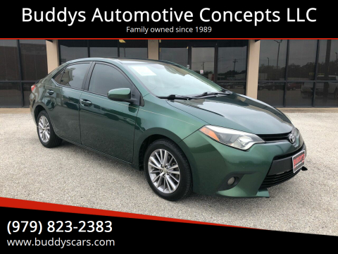 2014 Toyota Corolla for sale at Buddys Automotive Concepts LLC in Bryan TX