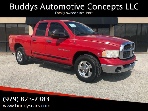 2005 Dodge Ram Pickup 2500 for sale at Buddys Automotive Concepts LLC in Bryan TX