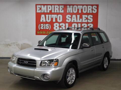 2004 Subaru Forester for sale at EMPIRE MOTORS AUTO SALES in Philadelphia PA
