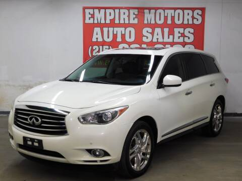 2013 Infiniti JX35 for sale at EMPIRE MOTORS AUTO SALES in Philadelphia PA