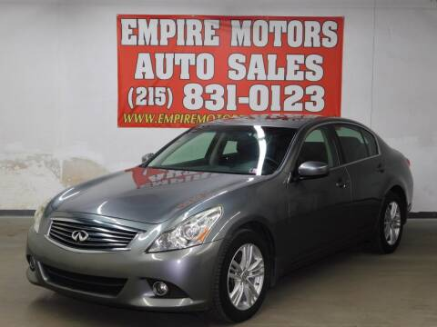2011 Infiniti G37 Sedan for sale at EMPIRE MOTORS AUTO SALES in Philadelphia PA