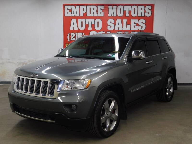 2012 Jeep Grand Cherokee for sale at EMPIRE MOTORS AUTO SALES in Philadelphia PA