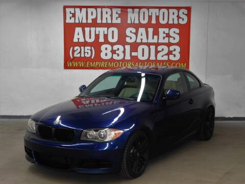 2011 BMW 1 Series for sale at EMPIRE MOTORS AUTO SALES in Philadelphia PA