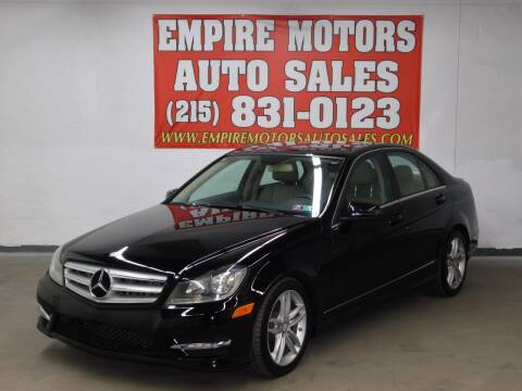 2013 Mercedes-Benz C-Class for sale at EMPIRE MOTORS AUTO SALES in Philadelphia PA