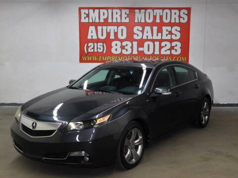 2012 Acura TL for sale at EMPIRE MOTORS AUTO SALES in Philadelphia PA