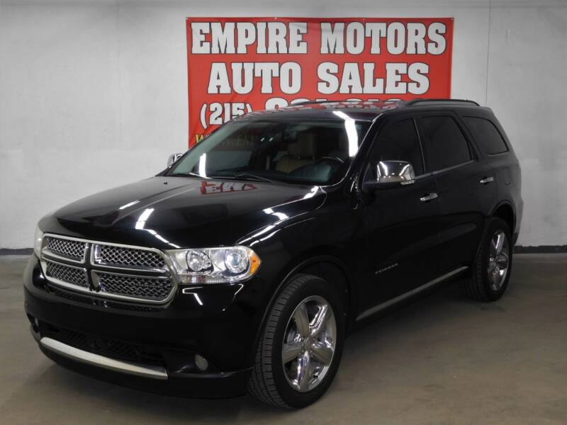 2012 Dodge Durango for sale at EMPIRE MOTORS AUTO SALES in Philadelphia PA