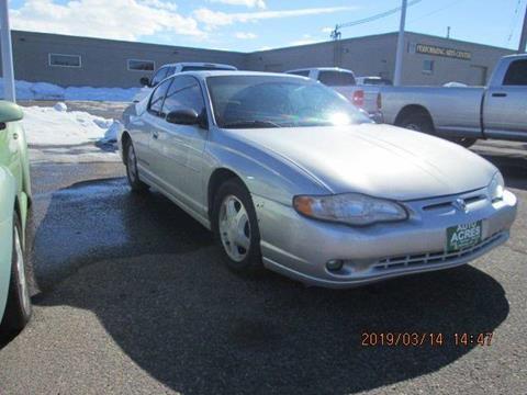 2002 Chevrolet Monte Carlo for sale in Billings, MT