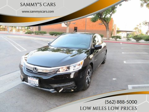 "2017 Honda Accord for sale at SAMMY""S CARS in Bellflower CA"