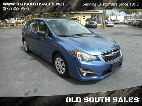 2016 Subaru Impreza for sale at OLD SOUTH SALES in Vero Beach FL