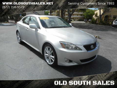 2007 Lexus IS 250 for sale at OLD SOUTH SALES in Vero Beach FL