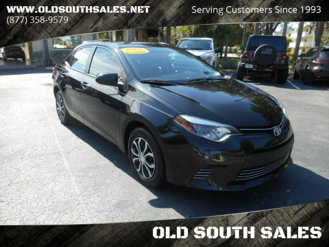 2015 Toyota Corolla for sale at OLD SOUTH SALES in Vero Beach FL