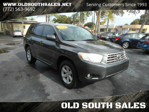 2010 Toyota Highlander for sale at OLD SOUTH SALES in Vero Beach FL