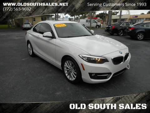 2016 BMW 2 Series for sale at OLD SOUTH SALES in Vero Beach FL