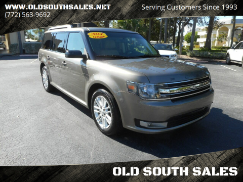 2014 Ford Flex for sale at OLD SOUTH SALES in Vero Beach FL