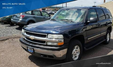 2004 Chevrolet Tahoe for sale at NELLYS AUTO SALES in Souderton PA