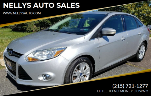 2012 Ford Focus for sale at NELLYS AUTO SALES in Souderton PA